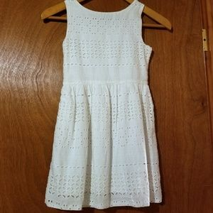 GAP Dresses - Gap girls eyelet dress (S)